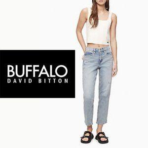 Buffalo Light Wash Straight Jeans - Size 12 x 30